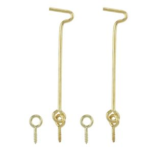 View B&Q Brass Effect Metal Gate Hook & Eye (L)100mm, Pack of 2 details