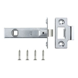 View B&Q Chrome Effect Tubular Latch details