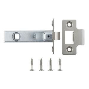 View B&Q Nickel Effect Tubular Latch details