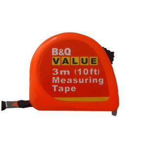 View B&Q Value 3m Tape Measure Of 1 details