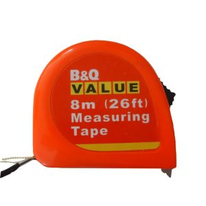 View B&Q Value Orange 8m Tape Measure details