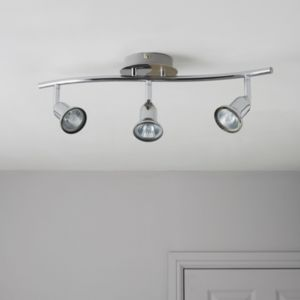 View Zorbo Chrome Effect 3 Lamp Bar Spotlight details