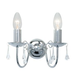 View Albany Candle Chrome Effect Double Wall Light details