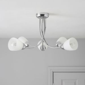 View Virgo Chrome Effect 5 Lamp Ceiling Light details