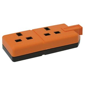 View B&Q Orange Unswitched Double Extension Lead details