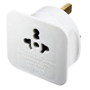Image of B&Q Plastic Visitor to Uk Travel Adaptor