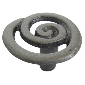 View Pewter Effect Traditional Round Cabinet Handle, Pack of 6 details