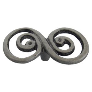 View Pewter Effect Traditional Twisted Cabinet Handle, Pack of 6 details