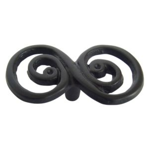 View B&Q Black Painted Twisted Furniture Knob, Pack of 3 details