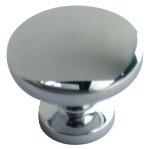 View Chrome Effect Classic Round Cabinet Handle, Pack of 6 details