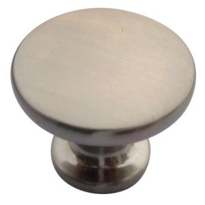 View B&Q Satin Nickel Effect Round Furniture Knob, Pack of 6 details