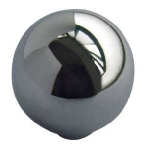 View Chrome Effect Modern Round Cabinet Handle, Pack of 6 details
