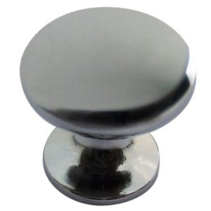View Chrome Effect Round Cabinet Handle, Pack of 6 details