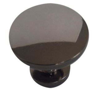 View B&Q Nickel Effect Round Furniture Knob, Pack of 6 details