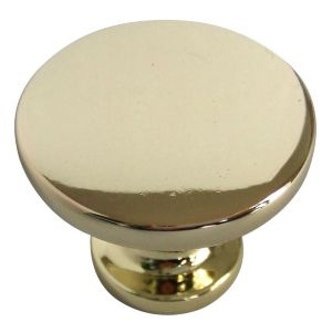 View B&Q Polished Brass Effect Round Furniture Knob, Pack of 6 details