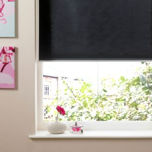 View Colours Pali Cordless Black Roller Blind (L)160cm (W)60cm details
