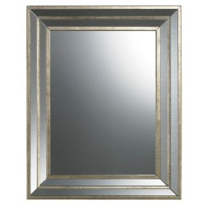 View Colours Metallic Effect Rectangular Mirror (L)500mm (W) 400mm details
