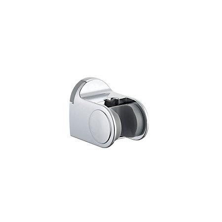 b q silver chrome effect shower head holder departments diy at b q. Black Bedroom Furniture Sets. Home Design Ideas