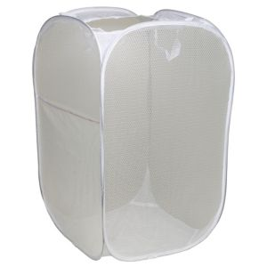 View B&Q White Air Flow Fabric Pop Up Laundry Hamper details