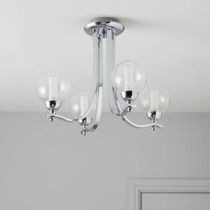 View Giselle Glass Ball Chrome Effect 4 Lamp Ceiling Light details