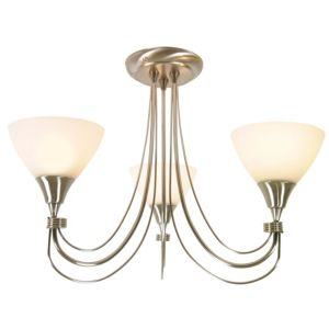 View Alfaro Chrome Effect 3 Lamp Ceiling Light details