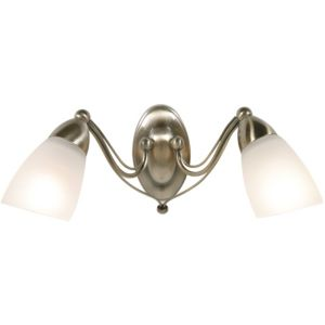 View Venus Antique Brass Effect Double Wall Light details