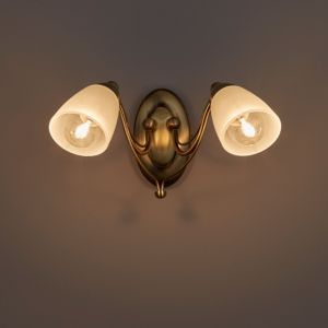 Image of Venus Antique brass effect Double Wall light