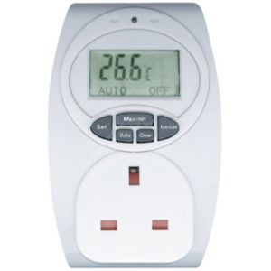 View B&Q White 1-Gang 240V 13A Temperature Controlled Adaptor details