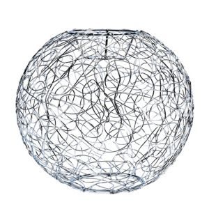 Image of Scribble Silver effect Lobster pot Light shade (D)235mm