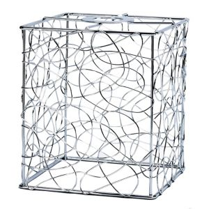Image of Scribble Silver effect Cube Light shade (D)130mm