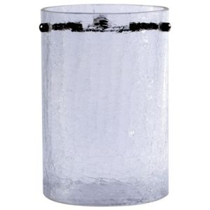 Image of Crackle Clear Frosted Cylinder Light shade (D)110mm