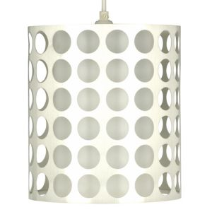Image of Holey Chrome effect Cylinder Light shade (D)205mm