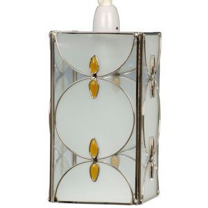 View Lights By B&Q Amber Frosted Effect Tiffany Style Light Shade details