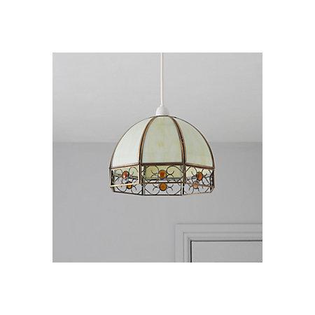 Tiffany Ivory Dome Pendant Ceiling Light