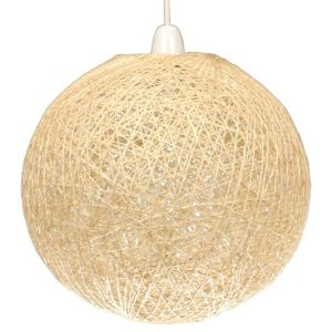Abaca Beige Twine Ball Pendant Light Shade (D)280mm