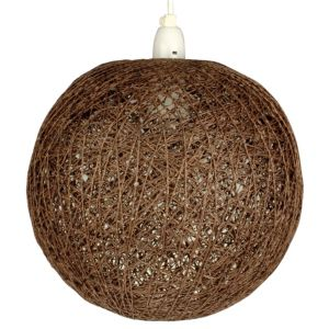 View Lights By B&Q Abaca Chocolate Twine Ball Light Shade details