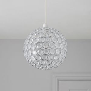 View Lights By B&Q Zoe Crystal Effect Beaded Rings Pendant Light Shade (D)24cm details