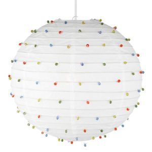 View Lights By B&Q White Beaded Light Shade details