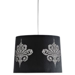 View Colours Briony Black Laser Cut Light Shade (D)10.4cm details