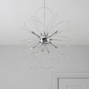 Hallie Chrome Effect 8 Lamp Pendant Ceiling Light