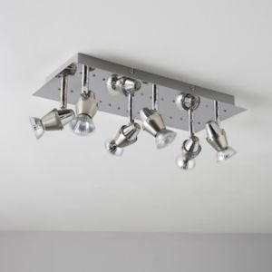 View Tornado Chrome Effect 6 Lamp Spotlight Plate details