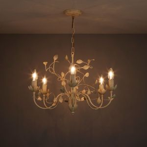 Image of Eva Cream 6 Lamp Chandelier Ceiling light