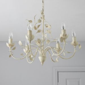 View EVA Cream Gold Effect 6 Lamp Pendant Ceiling Light details