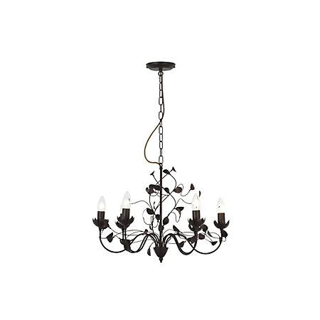 EVA Chocolate Brown 6 Lamp Pendant Ceiling Light | Departments ...
