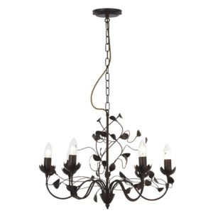 View EVA Dark Brown 6 Lamp Pendant Ceiling Light details