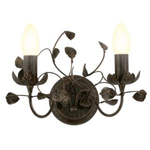 View EVA Leaf Chocolate Brown & Black Double Wall Light details