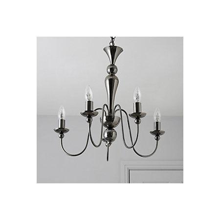 Megan Black Nickel Effect 5 Lamp Pendant Ceiling Light ...