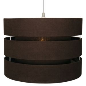 View Colours Trio Brown 3 Tier Cylinder Light Shade details