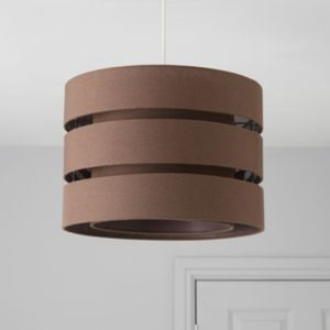 View Colours Trio Brown 3 Tier Cylinder Light Shade (D)35cm details