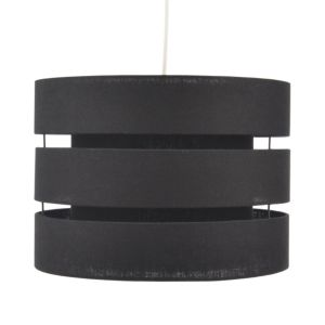View Colours Trio Black 3 Tier Cylinder Light Shade details